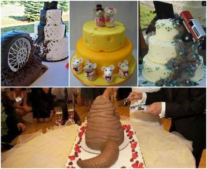 GALERIE FOTO / Cele mai haioase şi penibile torturi de nuntă! Dacă te căsătoreşti în 2016, ai grijă ce alegi