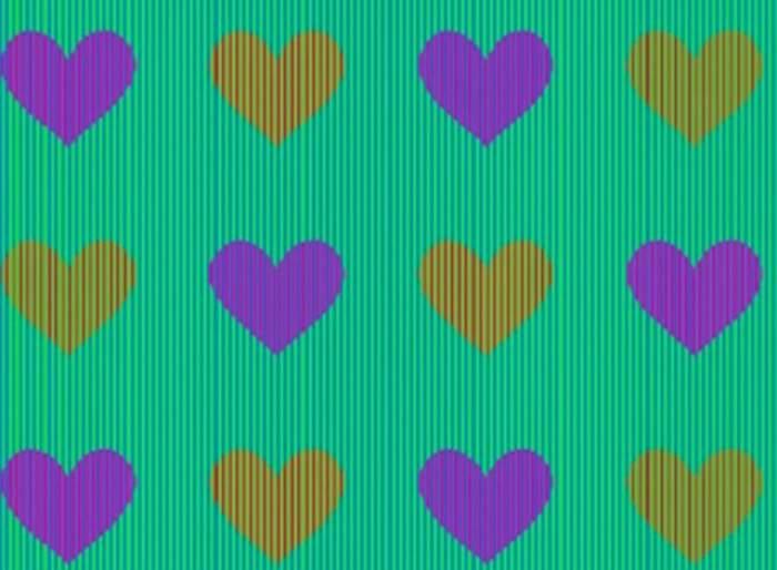 FOTO / Priveşte cu atenţie imaginea şi spune ce culori au inimile! Nouă din zece persoane au greşit răspunsul