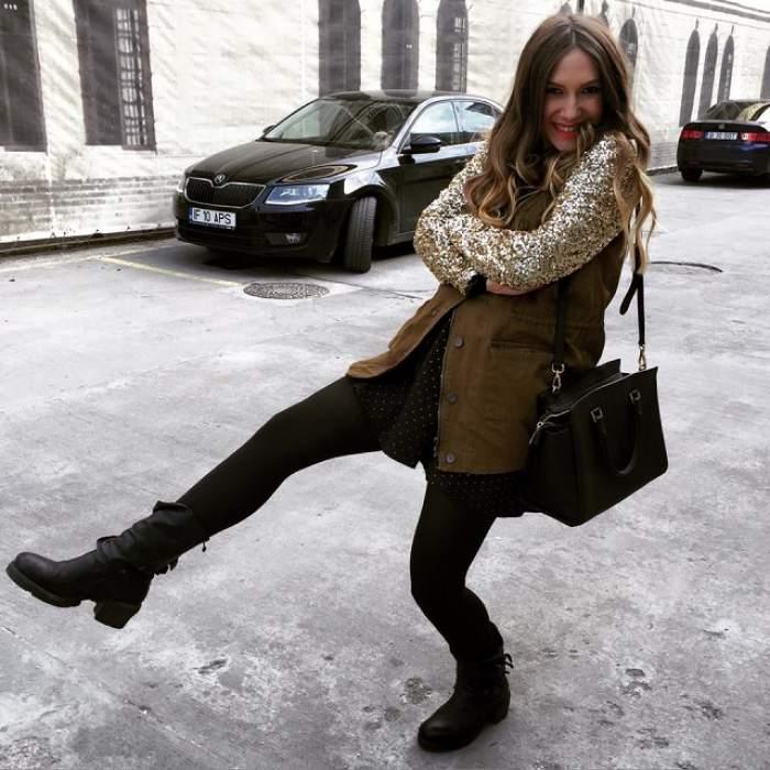"""Adela Popescu a făcut anunţul: """"Am scos bebeluşul la plimbare!"""" Radu Vâlcan a imortalizat momentul"""