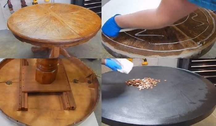 VIDEO / A lipit peste 35.000 de monede pe o masă! REZULTATUL a depăşit orice imaginaţie