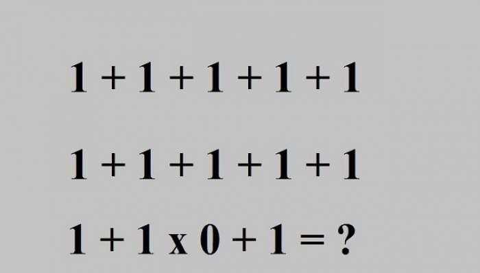 Testul la care şi profesorii de matematică stau să se gândească! 90% din oameni nu ştiu să-l rezolve