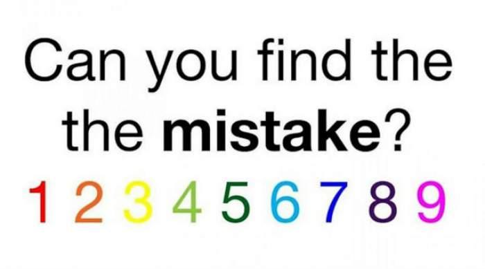 Imaginea de mai jos conţine o mică greşeală. Priveşte cu atenţie şi spune-ne dacă observi