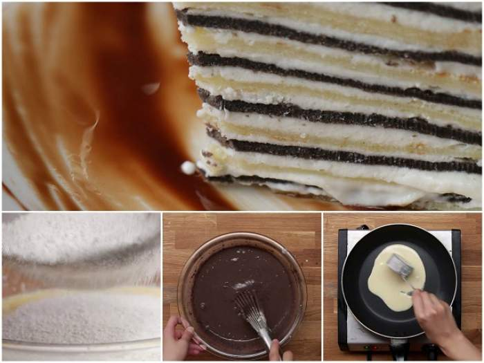 VIDEO / REŢETA ZILEI: JOI - Crepă de ciocolată şi vanilie cu topping de frişcă! Îţi plouă în gură doar când prepari