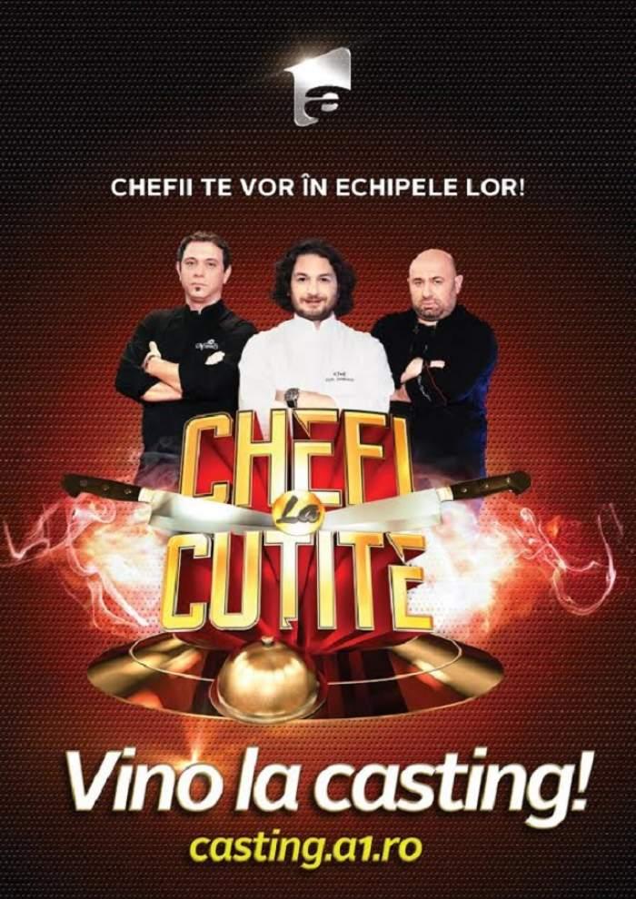"""Antena 1 deschide castingul pentru cel de-al doilea sezon """"Chefi la cuțite"""""""