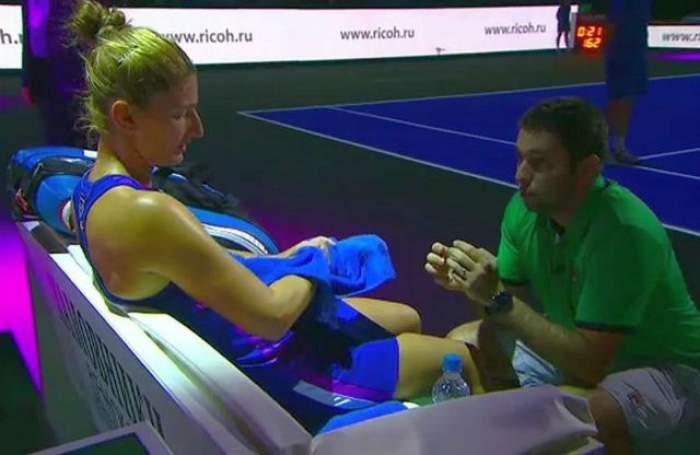 Discuţia dintre Irina Begu şi antrenorul ei, surprinsă de camere la turneul de la Roma. S-a AUZIT TOT la MICROFON