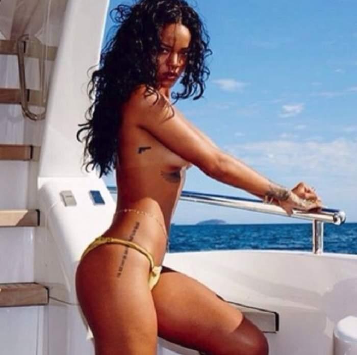 VIDEO & FOTO / Rihanna, fără sutien şi cu duşul în chiloţei! Imaginile care au făcut deliciul multor bărbaţi