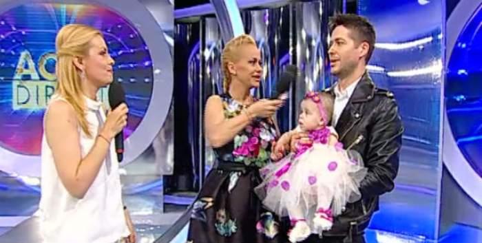 VIDEO / Fiica Andei Adam, prima apariţie la televizor! Evelin îi calcă pe urme mamei sale? Microfonul a cucerit-o