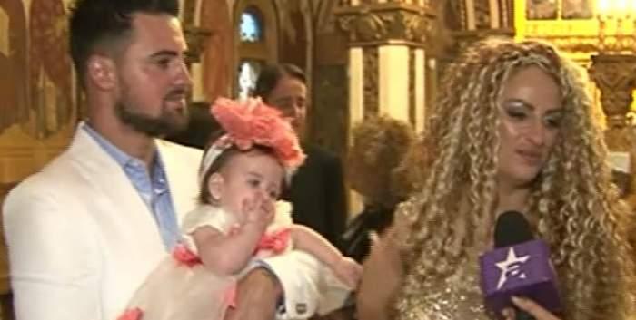 VIDEO / Botez cu lacrimi! Soţul Sânzianei Buruiană, primele declaraţii după creştinarea fiicei