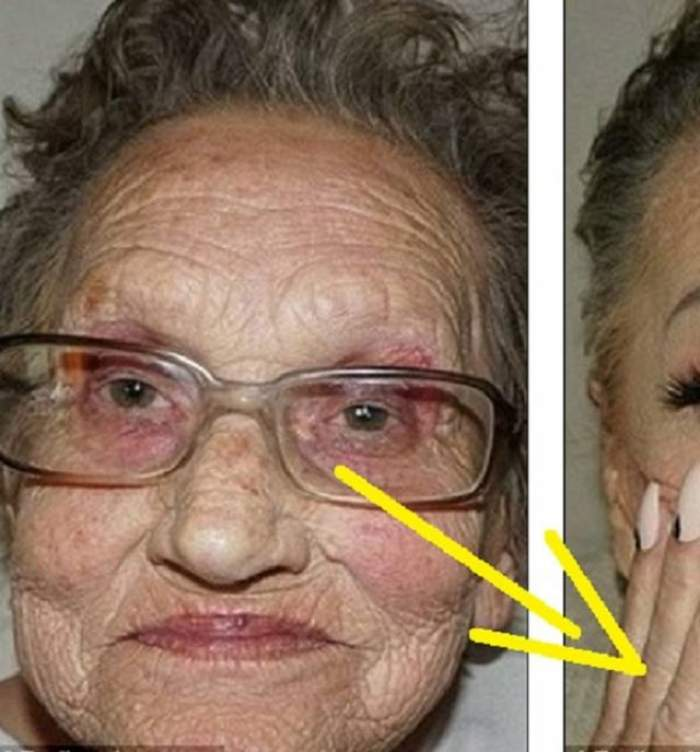 EXPERIMENT INEDIT făcut de o NEPOATĂ. Așa arăta bunica ei înainte să fie machiată. După ce a folosit trusa de make-up, imaginile cu bătrânica au ajuns virale