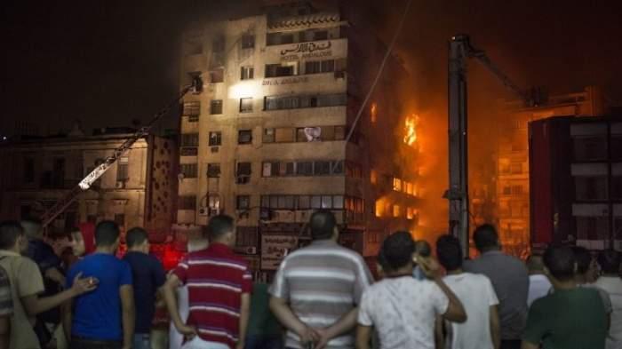 Incendiu devastator în Cairo! Trei persoane au murit, iar alte 91 au fost rănite