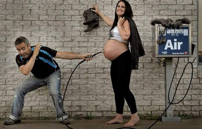 GALERIE FOTO: S-au pozat înainte să nască şi după! Detaliile din imagini spun tot