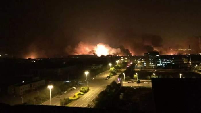 Explozie de proporţii într-o piaţă din Capitală! Imagini şocante!