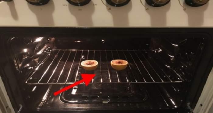 A pus o lămâie în cuptor şi a lăsat uşa deschisă peste noapte! Ce s-a întâmplat e surprinzător