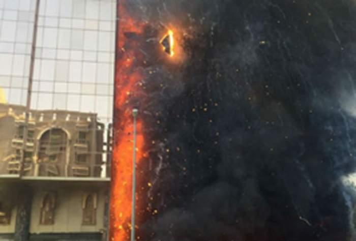 VIDEO & FOTO / IMAGINI DE IAD! Un hotel de 10 etaje a ars în întregime la Mecca