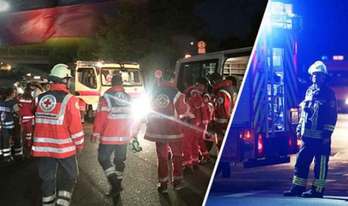 VIDEO & FOTO / Clipe de coșmar într-un tren din Germania! Călătorii au fost atacați de un refugiat înarmat cu un cuțit și un topor