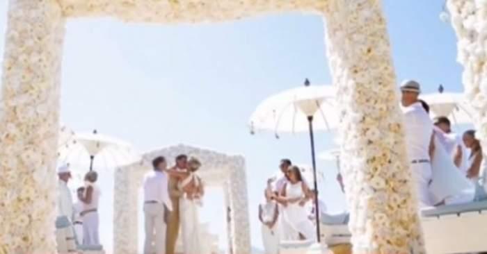 VIDEO / Nuntă de poveste, la Ibiza. Imagini spectaculoase