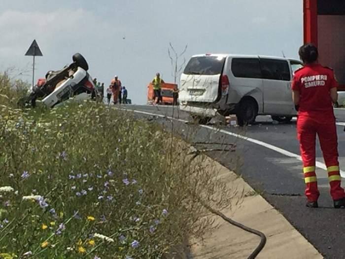 ACCIDENT GRAV pe DN1! O persoană a murit și alte două sunt rănite grav