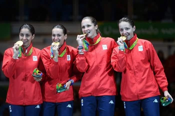 Fete de aur! Echipa feminină de spadă a României a câștigat titlul olimpic la Rio de Janeiro!