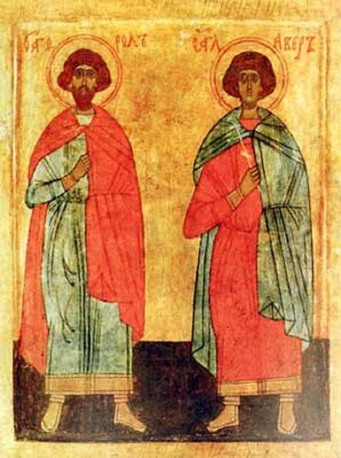 Sfinții Mucenici Flor și Lavru sunt pomeniți în calendarul creștin ortodox la 18 august