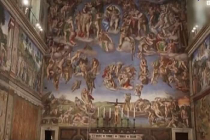 VIDEO / Tavanul Capelei Sixtine, secrete tulburătoare despre creierul uman! Ce a vrut să ascundă Michelangelo în templu