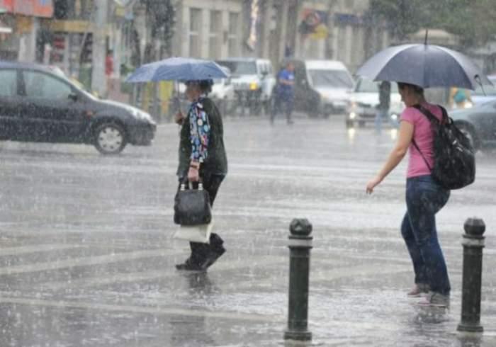 ULTIMĂ ORĂ! Cod GALBEN de ploi, grindină și vânt
