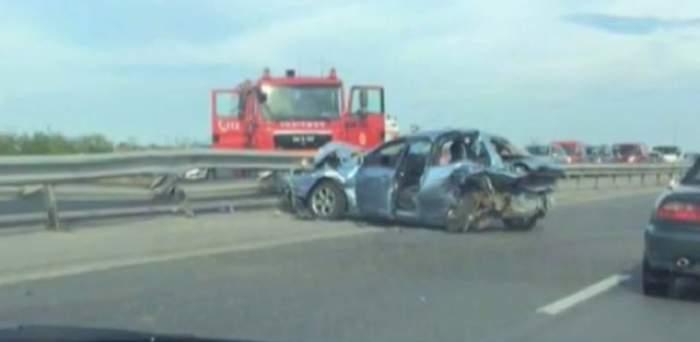 VIDEO / Primele imagini cu accidentul GRAV în care un artist român a fost implicat! Mașina e făcută ZOB