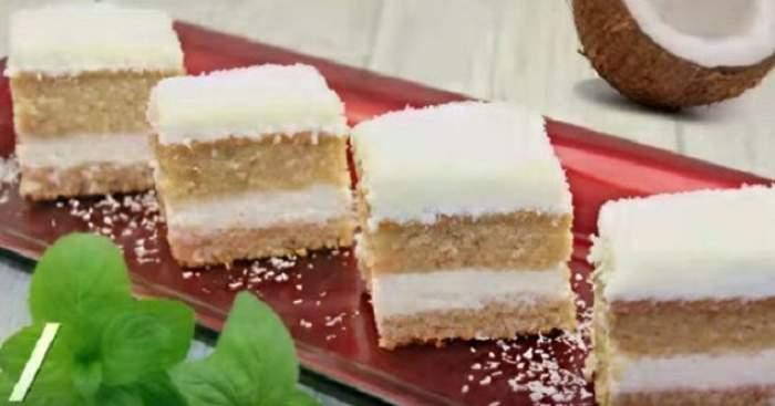 """REŢETA ZILEI - MARŢI: Prăjitura """"Regina gusturilor"""" cu lichior de cocos"""