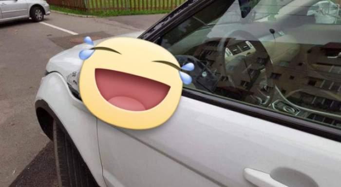 Așa ceva, numai în filme mai vezi! Polițistul Godină a surprins prin Brașov cea mai tare mașină! Incredibil ce a făcut șoferul cu oglinzile