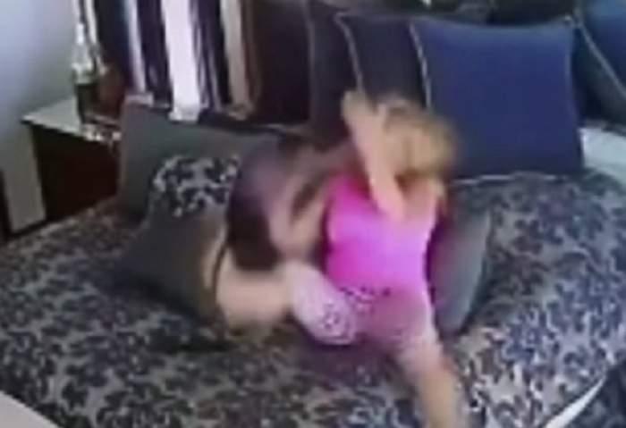 VIDEO ȘOCANT! Un milionar celebru și-a filmat iubita că se bătea singură