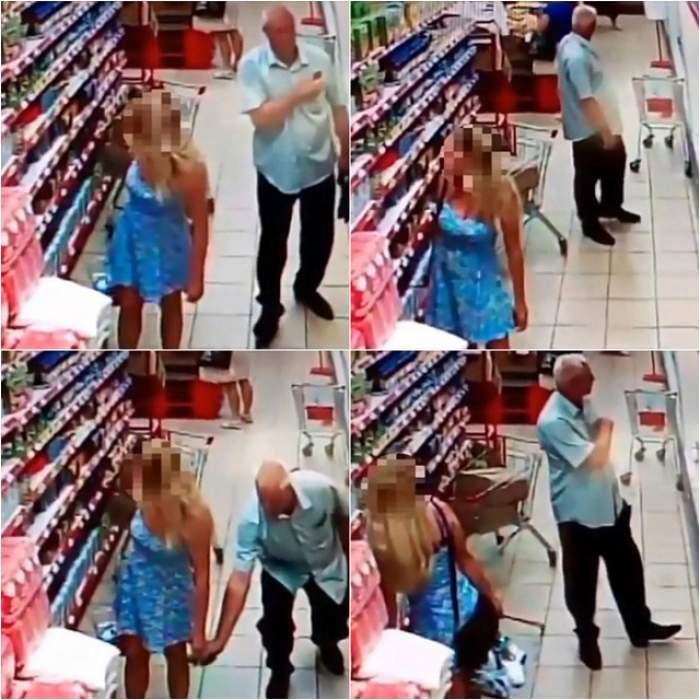 VIDEO / A ieşit la cumpărături într-o rochie scurtă! Un bărbat s-a apropiat de ea şi i-a băgat mâna sub fustă. Urmarea este de-a dreptul ŞOCANTĂ