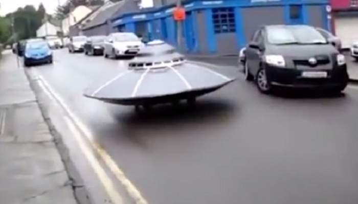 VIDEO / Un OZN a defilat pe străzi și a fost urmărit de autorități! Ce a urmat după, a ajuns viral