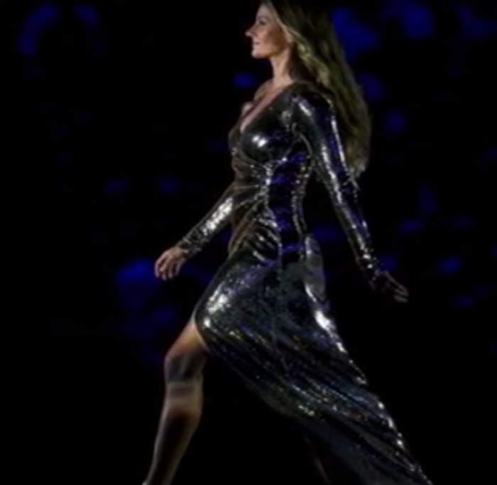 VIDEO / Gisele Bundchen, provocatoare la Jocurile Olimpice! A îmbrăcat o rochie mult prea decupată, iar când a pășit…a arătat TOT!