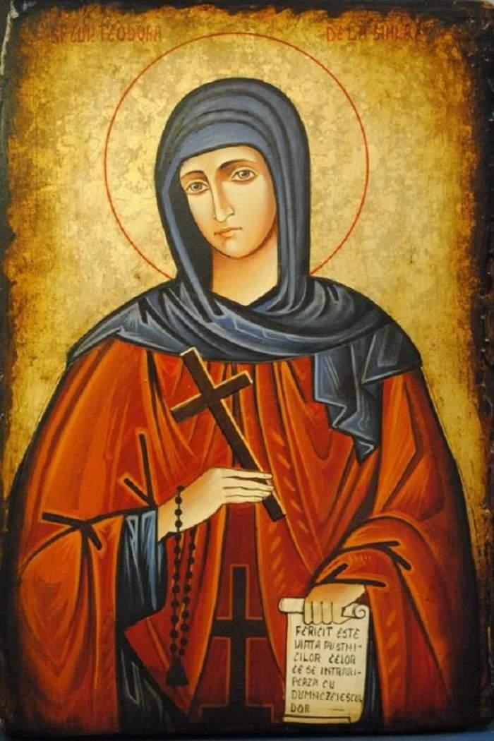 Sfânta Cuvioasă Teodora de la Sihla este pomenită în calendarul creștin ortodox pe 7 august