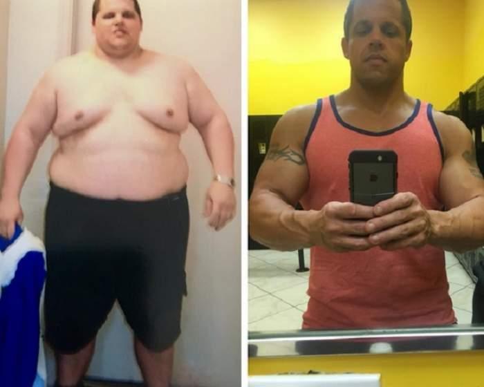 """VIDEO / De la """"COLĂCEI"""" la """"pătrățele""""! Transformarea HALUCINANTĂ a unui bărbat în numai 10 luni. Iată DIETA cu ajutorul căreia a REUȘIT să SCAPE de TEROAREA kilogramelor"""