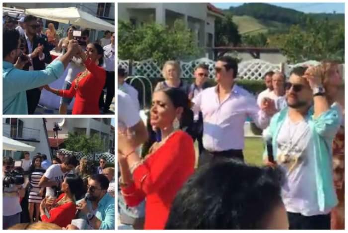 VIDEO / Uite, uită-te la ea, cum dansează bruneta. Andreea Mantea, show de zile mari la o nuntă de romi