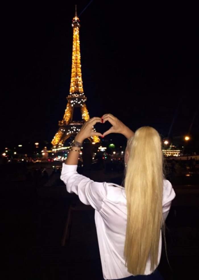 FOTO / Cu cine este Simona Traşcă la Paris! Blondina le-a arătat tuturor în compania cui se află în oraşul iubirii