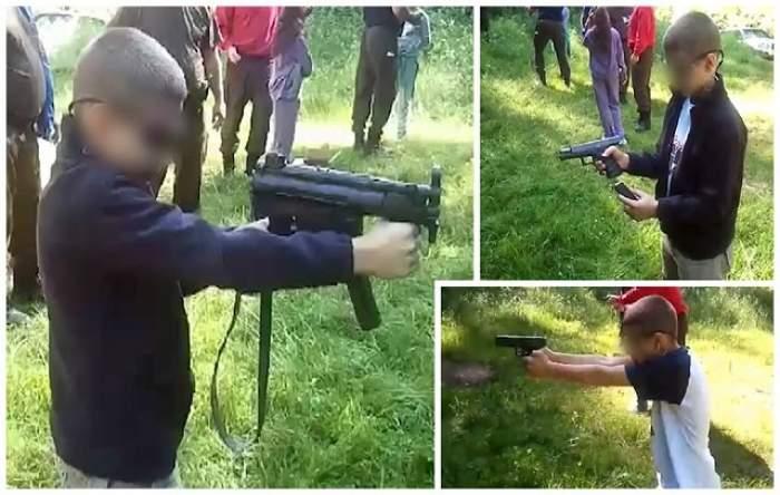 VIDEO / Imagini şocante din România! Copii de 10 ani care trag cu arme de foc!