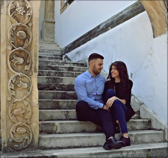 """FOTO / Câştigătorii """"Mireasă pentru fiul meu"""", prima întâlnire de afaceri! Cum s-au îmbrăcat de data asta Adriana şi Valentin"""