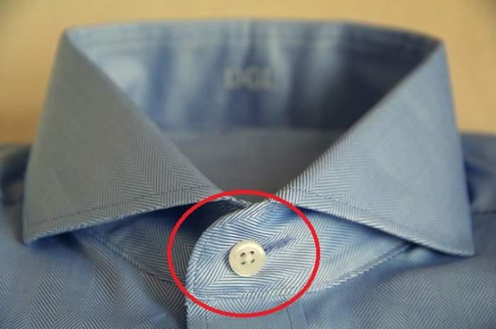 Te-ai întrebat vreodată de ce gaura de la ultimul nasture al cămăşii este orizontală? Explicaţia te va uimi
