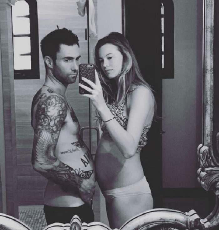 FOTO / Adam Levine, cel mai sexy tătic din lume! Behati Prinsloo a născut o fetiţă