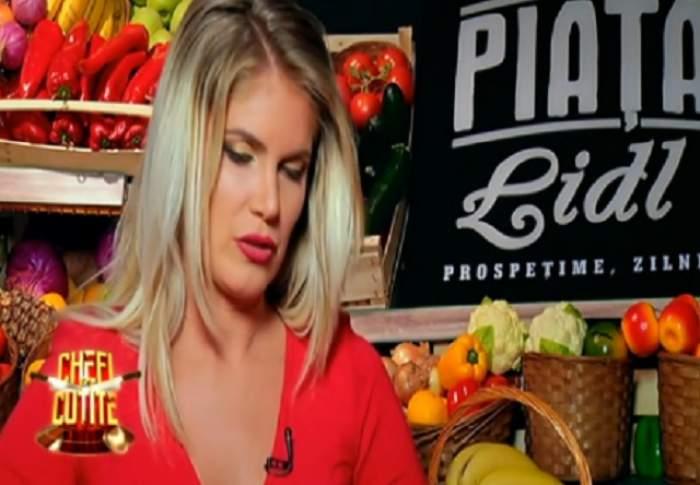 VIDEO / Blondă, rochie roșie, cine să se mai uite în farfurie?! Chefii au rămas fără cuvinte când au văzut cu cine a venit la TV