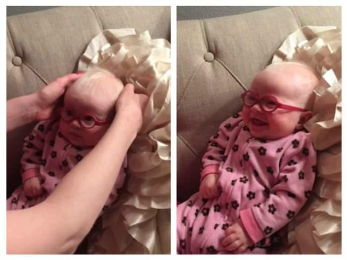 VIDEO / Dragoste la prima vedere! Reacţia unui bebeluş atunci când îşi vede, în sfârşit, pentru prima dată mama