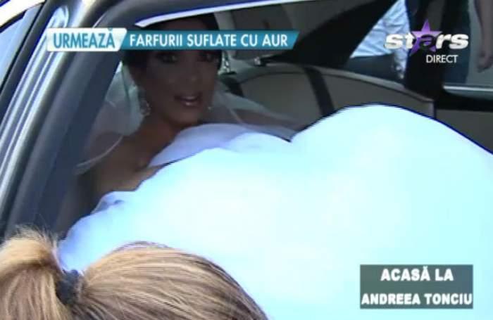 """VIDEO / Incident la nunta Andreei Tonciu. Mireasa nu se aştepta la aşa ceva: """"Nu pot să cred"""""""