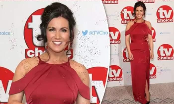 FOTO / Un moment de neatenţie i-a fost fatal! O prezentatoare TV, gafă vestimentară de proporţii după ce a îmbrăcat o rochie...mult prea decupată