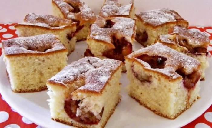 REŢETA ZILEI: Prăjitură cu prune! Un desert delicios pe care trebuie să îl încerci