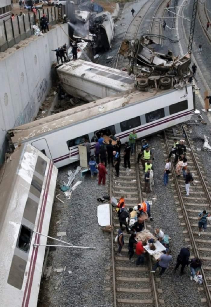 VIDEO / Accident de tren în Spania: cel puţin doi morți
