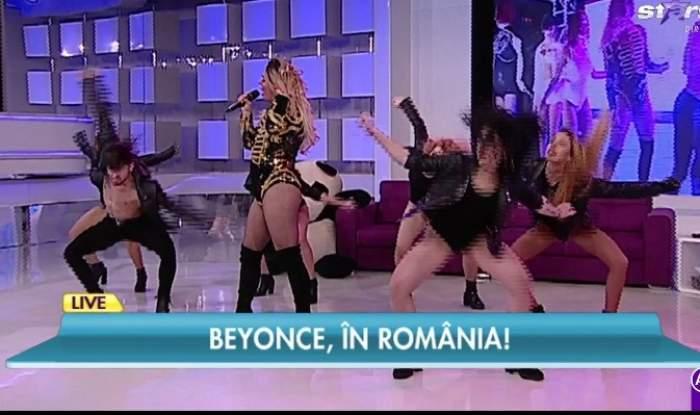 VIDEO / Queen B., pentru prima dată într-un platou de televiziune! A făcut show total