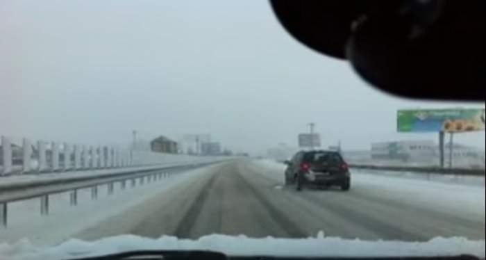 Trafic îngreunat pe autostrada A2!  Ceaţa le dă mari bătăi de cap şoferilor