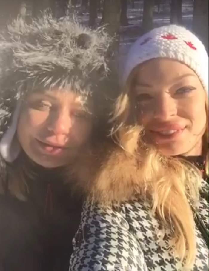 """VIDEO / Valentina Pelinel, în """"cantonament"""" la munte alături de Adina Buzatu: """"Am ieșit să alergăm de azi dimineață"""""""