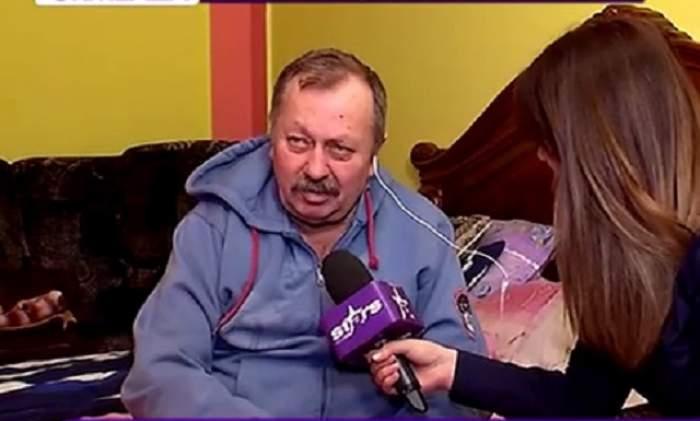 Prima apariţie TV a tatălui Gabrielei Cristea după ce i-a fost amputat piciorul! Bărbatul strigă după ajutor, dar fiica lui nici nu îl bagă în seamă